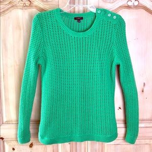 Talbots Kelly Green ☘️ Sweater LS Sz. sm. Petite